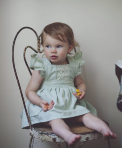Green Vintage Girl Dress