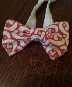 Vintage Boys Bowtie. Boy's Formal Ties. Bow Ties. Accessories. Handmade Vintage Fabrics. Laser Print Pattern. Children's Apparel.