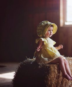 Yellow Custom Baby Clothing and Bloomers