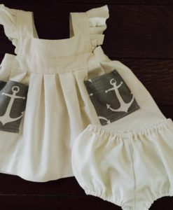 Gray Girls Anchor Dress Back