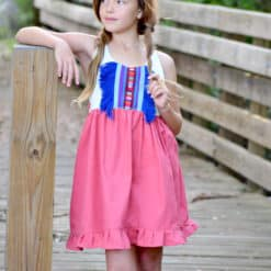 Vintage Girls Dress using Hmong Fabric from Thailand. Children's Apparel and Family Heirlooms, including Dresses, Bloomers, and Rompers.