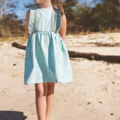 Vintage Girls Boho Dress. Handmade Vintage Apparel for Children, Girls, and Toddlers. Kids Clothing including Dresses, Bloomers, Rompers.