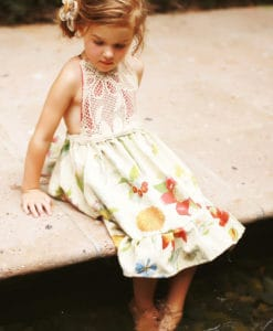 Girls Southern Style Party Dress Vintage Handmade
