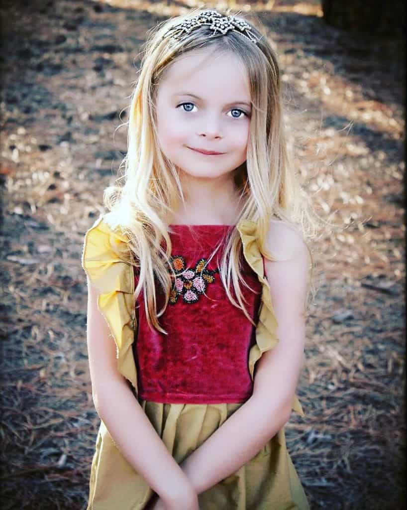 Boho Chic Girls Dress by Magnolia Lake Clothing
