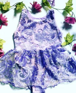 purple girls ballet dress with snaps