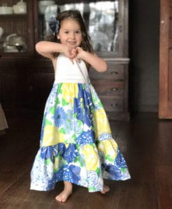 Blue Lilly maxi dress front