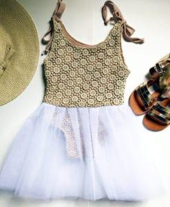 Crochet boho ballet dress