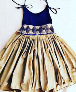 Giselle royal blue and gold dress