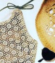 Tan Crochet sunsuit