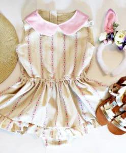 Vintage floral romper dresses 2