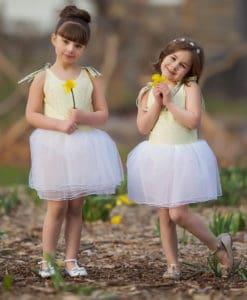 yellow girls tutu dress
