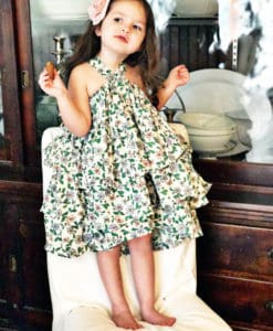 Floral ruffled dress skirt