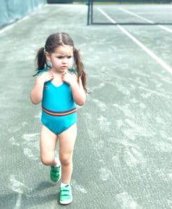 girls rainbow tennis dress